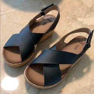Clark's cork wedge sandal